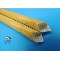 Buy cheap Heat Resistant Polyurethane fiberglass Sleeving for F class AC Motors from wholesalers
