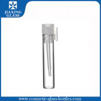 Buy cheap Cylinder 3ml Clear Glass Vial , Perfume Tubular Roll On Bottles from wholesalers