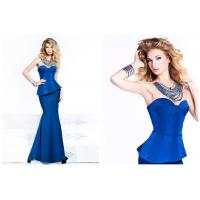 Long Mermaid Satin Sweetheart Ladies Party Dresses with Crew Necklace Manufactures
