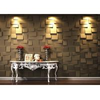 Buy cheap Colored Fireproof Bamboo Fiber 3D Wood Wall Panel For Interior from wholesalers