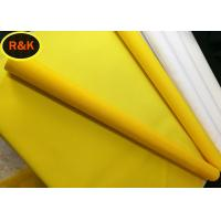 Buy cheap Monofilament Polyester Screen Mesh Anti Static Yellow Polyester Tensile Strength from wholesalers