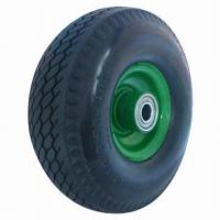 Buy cheap PU Foam Wheel, Flat Free Tire, Used for Hand Trolley, Tool Carts and Machines from wholesalers
