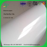 Buy cheap 125g 165g 185g 225g cast coated high glossy paper rolls on sale from wholesalers