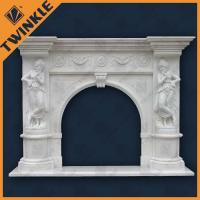 Buy cheap Hand Carved Stone Marble Fireplace Mantel Honed For Interior Decoration from wholesalers