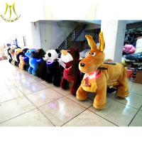 Hansel factory direct big size plush animals 4 wheel kid stuffed zoo animal scooter Manufactures