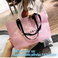 Buy cheap Clear PVC/Vinyl shoulder tote bag, outdoor carry clear pvc shoulder bag, fashion jelly candy bag women pvc clear shoulde from wholesalers