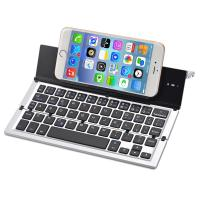 Wholesale Folding Keyboard Portable Foldable Wireless Bluetooth Keyboard Aluminum Alloy Housing for iPhone,iPad,Tablet,Laptops from china suppliers