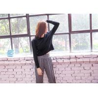 Buy cheap Adults Long Sleeve Yoga Shirts , Fashion Wear Customized Long Sleeve Workout Tops from wholesalers