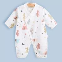Buy cheap Cute Summer Muslin Baby Pajamas Breathable For Babies Short Sleeves Romper from wholesalers