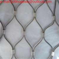 Buy cheap wire cable netting/steel wire rope suppliers/zoo mesh/stainless steel cable hardware/zoo wire mesh/wire net mesh from wholesalers