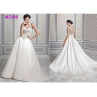 Buy cheap Ivory Organza V Neck Ball Gown Wedding Dress , Formal Ball Gown Prom Dresses from wholesalers
