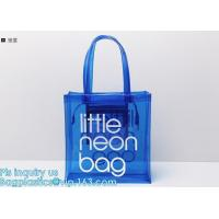 Buy cheap pvc gift bag / transparent shopping bag / wholesale china pvc handbags, PVC coated shopping bag, rope handle clear pvc b from wholesalers