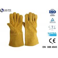 Buy cheap Leather Heat Resistant PPE Safety Gloves Soft High Dexterity For Welding Oven Fireplace from wholesalers