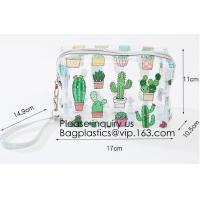 Buy cheap Cute Unicorn PVC Transparent Travel Accessory Cosmetic Bag Waterproof Makeup Pouch Cactus Flamingo Wash Kits Organizer from wholesalers