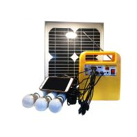Buy cheap Small Solar Powered Lantern Lights 3pcs LED Bulbs E27 Light Holder With Music Player from wholesalers