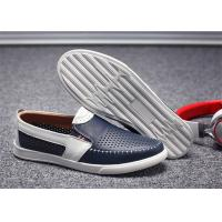Buy cheap Absorbent Sweat Mens Leather Slip On Loafers Shoes Small Circular Aperture Holes Punched from wholesalers