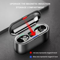 Buy cheap True Wireless In Ear Bluetooth Noise Cancelling Earphones For Mobile Phone Charing Box F9 from wholesalers