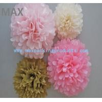 Buy cheap Chinese Popular Colorful Hanging Paper Flowers Balls,Colorful Paper Pom Poms Flower Balls from wholesalers