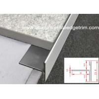 Wholesale T Shaped Stainless Steel Tile Trim Edging Natural Color For Floor / Tile End from china suppliers