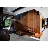 Buy cheap Solid European Oak Wood Straight Stairs Interior Floating staircase from wholesalers