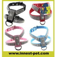 Wholesale Luxury reshinestone dog products crystal pet harness from china suppliers