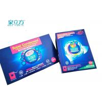 China Organic Laundry Detergent Sheets 4 Grams Per Pcs With Light Blue Color on sale