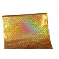 Food Packing Gold Holographic Stamping Foil 12Micron Thickness