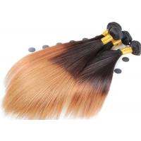 Double Drawn Soft Ombre Colored Human Hair Extensions With Light Blonde