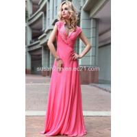 Buy cheap Deep V Neck Evening Dresses LF1030588 from wholesalers