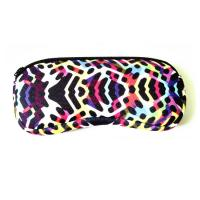 Wholesale Portable Travel Zipper Soft Neoprene Sunglasses bag.SBR Material. Size is 19cm*8.7cm. from china suppliers