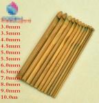 Buy cheap Bamboo Crochet Hooks, knitting needles, knitting tools for yarn, bamboo knitting needles factory from wholesalers
