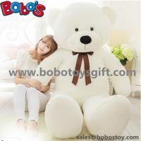"55"" Wholesale Price White Giant Push Bear Animal Toys as Christmas Gift Manufactures"