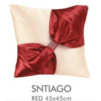 """Buy cheap 18 X 18"""" Black Red Decorative Bed Pillows Embroidery Santiago , Custom Decorative Pillows from wholesalers"""