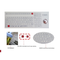 Buy cheap Food and Beverage Industrial Membrane Keyboard with Trackball Omron Switch from wholesalers