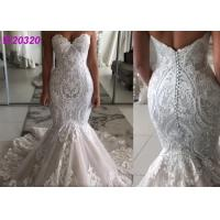 Buy cheap Factory Stylish Lace matched for Client Design Perfect Mermaid Wedding Dress from wholesalers
