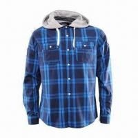Buy cheap Men's casual flannel shirt/casual shirt/printed shirt/men's top/men's plaid shirt/checkered shirt from wholesalers