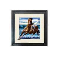 Buy cheap Running Horse Image 3D Lenticular Printing Service MDP Frame 5D Effect from wholesalers