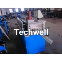 Metal Stud Roll Forming Machine With Hydraulic Cutting For Making Furring Channel / Roof Ceiling Batten Manufactures