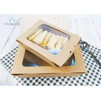 Buy cheap Cardboard Paper Recyclable To Go Containers 26oz / 32oz With Transparent Window from wholesalers