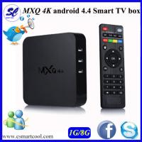 Buy cheap MXQ 4K Streaming Android Cliste Bosca TV RAM 1GB Flash 8G Chipset Rockchip 3229 Bluetooth from wholesalers