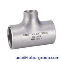 "Buy cheap seamless Stainless Steel Tee , single slit pipe wall thickness 1 / 2 "" NPS Sch5S to 24""OD x30mm from wholesalers"
