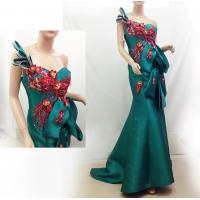 Red Flower Open back Evening Party Dresses in Green LXLSQ-1386 Manufactures