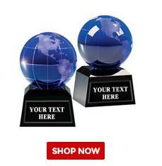 globe awards crystal k9 optical glass dia80mm