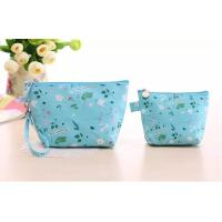 Wholesale Portable Polyester Foldable Storage Box , Blue Nylon Travel Cosmetic Bags from china suppliers