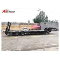 Buy cheap 60-100 Tons Goosneck Hydraulic Low Bed Trailer 4mm Checked Steel Platform from wholesalers