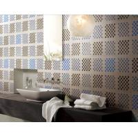 Mosaic tile design recycled glass mosaic square pattern for wash room Manufactures