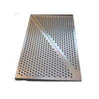 Buy cheap 3mm SS Round Hole Perforated Metal Panels For Wall Panelling With Floding Edge from wholesalers