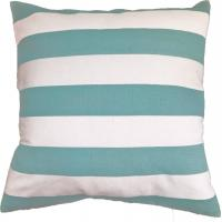 Buy cheap Green Stripe Printed Pillow Cushion Covers , Decorative Pillow Covers from wholesalers