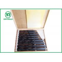Wholesale Roll Forged / Milled HSS Taper Shank Drill Bit Set With Wooden Box DIN 345 from china suppliers