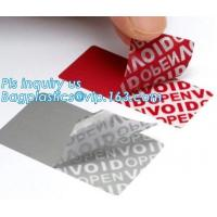 Buy cheap VOID material warranty void non removable labels,tamper evident honeycomb holographic warranty OPEN void security label, from wholesalers